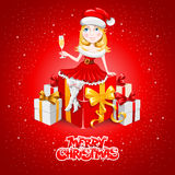 Christmas congratulation Stock Images