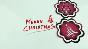 Christmas congratulation and the red pics. The Christmas drawing made a marker on white stock video