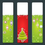 Christmas congratulation stickers Stock Image