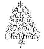 Christmas congratulation on white background Stock Images