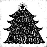Christmas congratulation on white background Stock Image