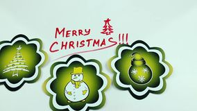 Christmas congratulation and yellow pictures stock video