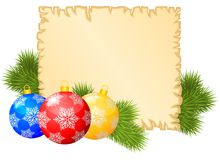 Christmas congratulations background Stock Image