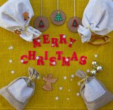 Christmas congratulations background for workers Stock Photos