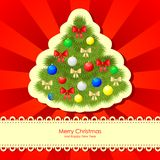 Christmas congratulations card Royalty Free Stock Photography