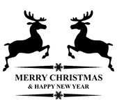 Christmas congratulations with deer Royalty Free Stock Images