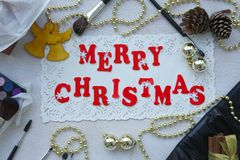 Christmas congratulations for make-up artists Royalty Free Stock Photos
