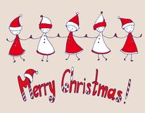 Christmas congratulations vector illustration