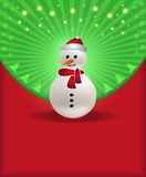 Christmas congratulations red green snowman Royalty Free Stock Image