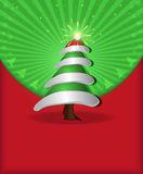 Christmas congratulations red green tree cap Stock Photo