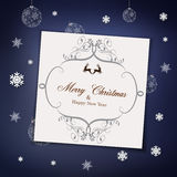 Christmas congratulatory background Stock Images