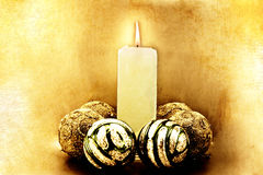 Christmas congratulatory card. From candles Royalty Free Stock Photography