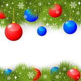 Christmas congratulatory card Stock Images