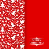 Christmas congratulatory card with baubles Stock Photos