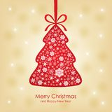 Christmas congratulatory card Royalty Free Stock Photo