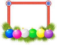 Christmas congratulatory frame Stock Photos