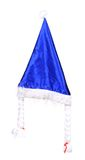 Christmas conical blue hat. Stock Photo