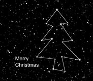 Christmas constellation. With the shine stars in universe Royalty Free Stock Photography