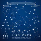 Christmas constellations Stock Photography