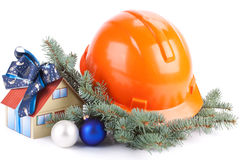 Christmas construction Stock Images