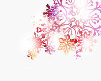 Christmas contemporary snowflakes background Royalty Free Stock Images