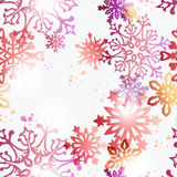 Christmas contemporary snowflakes pattern Royalty Free Stock Image