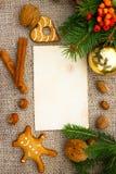 Christmas cookbook Stock Image
