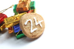 Christmas cookie 24th of december Stock Photography