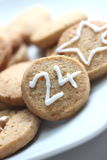 Christmas cookie 24th of december Royalty Free Stock Image