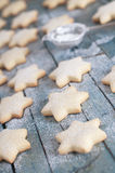 Christmas cookie. Homemade Christmas cookie with confectioner's sugar Royalty Free Stock Photo