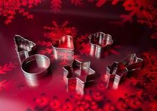 Christmas cookie bakery. Baking ramekins Stock Photography