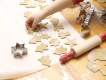 Christmas Cookie Baking Stock Images