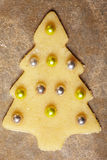 Christmas cookie with balls Stock Photography