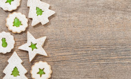 Christmas Cookie Border Stock Image