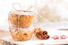 Christmas cookie with cinnamon. Two christmas cookie with cinnamon Royalty Free Stock Photos