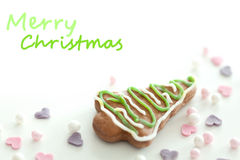 Christmas cookie closeup Stock Photos