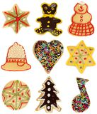 Christmas cookie collection stock photography
