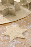 Christmas cookie cutter.Star shape. Royalty Free Stock Photo