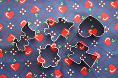 Christmas Cookie Cutters Royalty Free Stock Photos