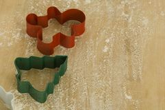 Christmas cookie cutters stock images
