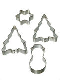 Christmas cookie cutters Royalty Free Stock Photography