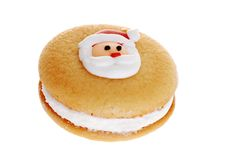 Christmas Cookie Focus On Santa Face Stock Images