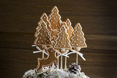 Christmas cookie forest Royalty Free Stock Photography