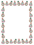 Christmas Cookie Frame Royalty Free Stock Photography