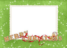Christmas Cookie frame Stock Images
