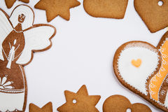 Christmas cookie frame Royalty Free Stock Photo