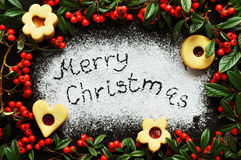 Christmas cookie frame Royalty Free Stock Images