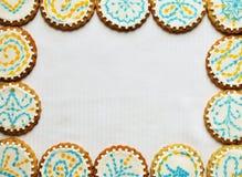 Christmas cookie frame Stock Image