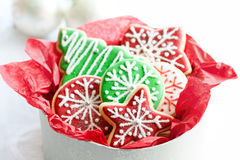 Christmas cookie gift box Royalty Free Stock Photography