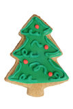 Christmas cookie made in shape of Christmas tree Stock Photography